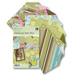 K and Company - Designer Mat Pad - Doublesided Paper - 4.75 x 6.75 - Amy Butler Collection - Sola - Mat 4x6 Photos Instantly, CLEARANCE