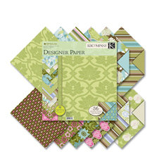 K and Company - Amy Butler Collection - 12x12 Patterned Cardstock Double Sided Paper Pad - Sola