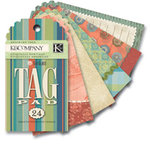 K and Company - Sea Glass Collection - Tag Pad, CLEARANCE