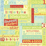 K and Company - 12x12 Paper - Brenda Walton Collection - Small Wonders Boy - Endearments