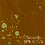 K and Company - 12x12 Paper - Brownie Girl Scouts Collection - Brown Swirl
