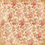 K and Company - Ancestry.com Collection - 12x12 Paper - Red Antique Floral