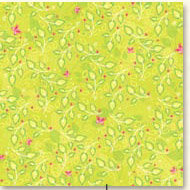 K and Company - Berry Sweet Collection -12x12 Patterned Paper - Lime Garden