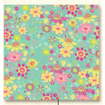 K and Company - Berry Sweet Collection -12x12 Patterned Paper - Blue Floral, CLEARANCE