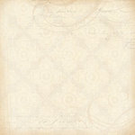 K and Company - Blue Awning Collection - 12x12 Paper - Ivory Medallion Swirls
