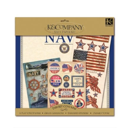 K and Company Paper Kits - Navy