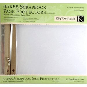 K and Company 8.5 x 8.5 Clear Page Protector Refill Kit - 10 Pack