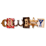 Karen Foster Design - Cowboy Collection - Stacked Statements - 3 Dimensional Adhesive Title - Cowboy