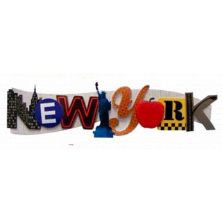 Karen Foster Design - Destination Adhesive Stacked Statement - New York