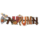 Karen Foster Design - Autumn Collection - Stacked Statements - 3 Dimensional Adhesive Title - Autumn