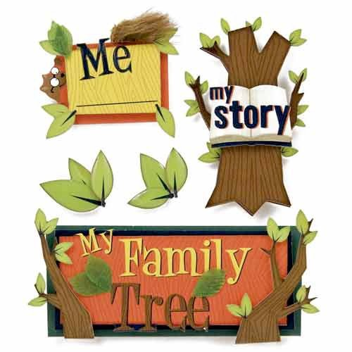 Karen Foster Design - Kids' Ancestry Collection - Stacked Stickers - Kids Ancestry