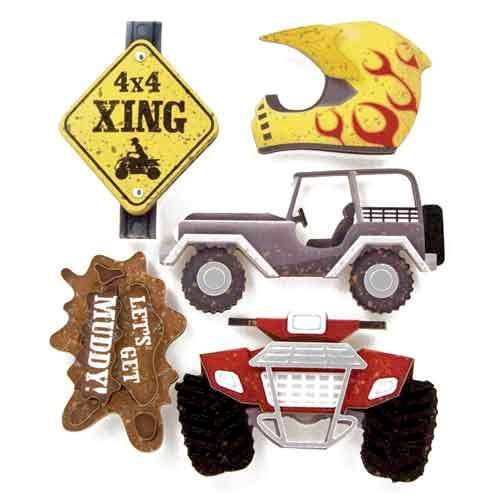Karen Foster Design - Off Road Collection - Stacked Stickers - 4 x 4