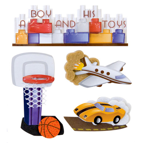 Karen Foster Design - Little Boy Collection - Stacked Stickers - A Boy and His Toys