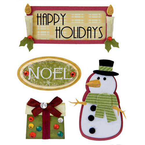 Karen Foster Design - Whimsical Christmas Collection - Stacked Stickers - Happy Holidays