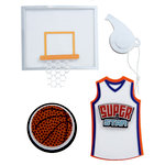 Karen Foster Design - Basketball Collection - Stacked Statement - 3 Dimensional Adhesive Title - Basketball