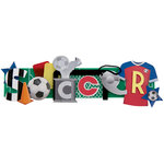 Karen Foster Design - Soccer Collection - Stacked Statements - 3 Dimensional Adhesive Title - Soccer