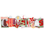 Karen Foster Design - Christmas Collection - Stacked Statements - 3 Dimensional Adhesive Title - Merry Christmas