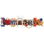 Karen Foster Design - Cowboy Horse Collection - Stacked Statement - 3 Dimensional Adhesive Title - I Love My Horse