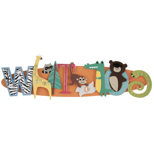 Karen Foster Design - Zoo Collection - Stacked Statement - 3 Dimensional Adhesive Title - What a Zoo