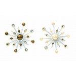 Karen Foster Design - Sparkle Burst Brads - Pearls