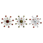 Karen Foster Design - Christmas Collection - Sparkle Burst Brads - Holly and Berries, CLEARANCE