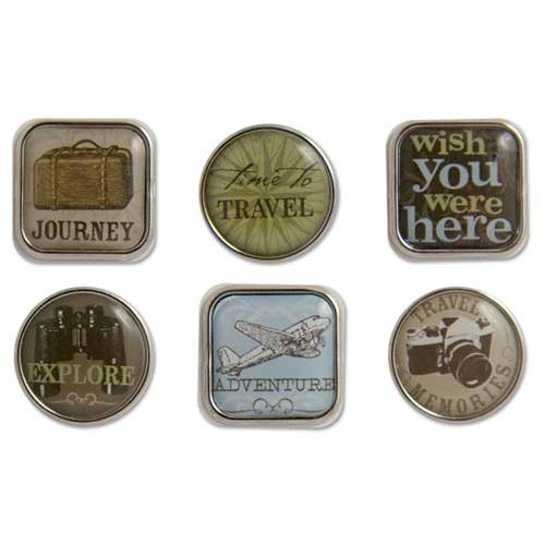 Karen Foster Design - Travel Collection - Bubble Brads - Travel