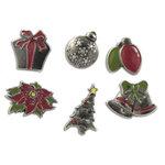 Karen Foster Design - Christmas Collection - Treasure Brads - Metal - Christmas, CLEARANCE