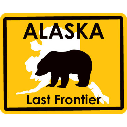 Karen Foster Design - STATE-ments Collection - Self Adhesive Metal Plates - Alaska
