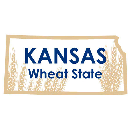 Karen Foster Design - STATE-ments Collection - Self Adhesive Metal Plates - Kansas