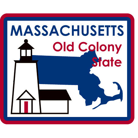 Karen Foster Design - STATE-ments Collection - Self Adhesive Metal Plates - Massachusetts