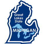 Karen Foster Design - STATE-ments Collection - Self Adhesive Metal Plates - Michigan