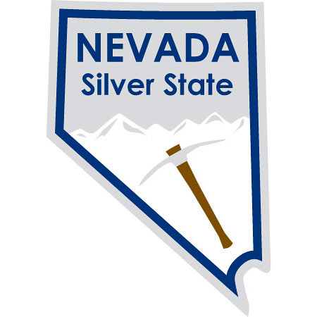 Karen Foster Design - STATE-ments Collection - Self Adhesive Metal Plates - Nevada