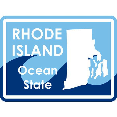Karen Foster Design - STATE-ments Collection - Self Adhesive Metal Plates - Rhode Island