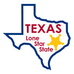 Karen Foster Design - STATE-ments Collection - Self Adhesive Metal Plates - Texas