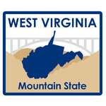 Karen Foster Design - STATE-ments Collection - Self Adhesive Metal Plates - West Virginia
