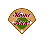 Karen Foster Design - SPORTS-ments Collection - Self Adhesive Metal Plates - Home Run