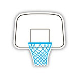 Karen Foster Design - SPORTS-ments Collection - Self Adhesive Metal Plates - Basketball Hoop