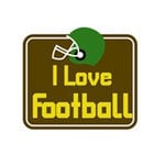 Karen Foster Design - SPORTS-ments Collection - Self Adhesive Metal Plates - I Love Football