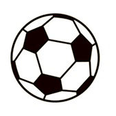 Karen Foster Design - SPORTS-ments Collection - Self Adhesive Metal Plates - Soccer Ball
