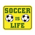 Karen Foster Design - SPORTS-ments Collection - Self Adhesive Metal Plates - Soccer is Life