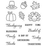 Karen Foster Design - Thanksgiving and Autumn Collection - Clear Acrylic Stamps - Thanksgiving