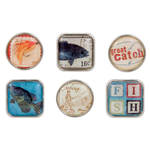 Karen Foster Design - Fishing Collection - Bubble Brads