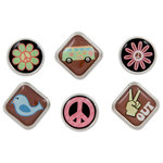 Karen Foster Design - Peace Collection - Bubble Brads - Far Out