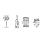 Karen Foster Design - Winery Collection - Thin-ments - Metal Shapes