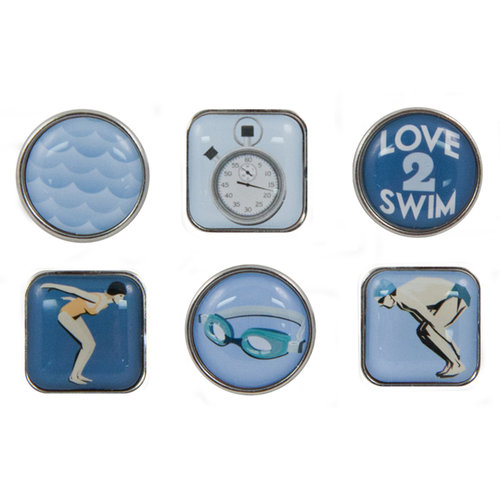 Karen Foster Design - Swimming Collection - Bubble Brads - Swimming