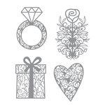 Karen Foster Design - Wedding Collection - Thin-ments - Metal Shapes