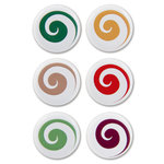 Karen Foster Design - Christmas Collection - Swirl Dot Brads - Playful