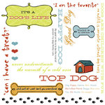 Karen Foster Design - Dog's Life Collection - 12 x 12 Rub-On