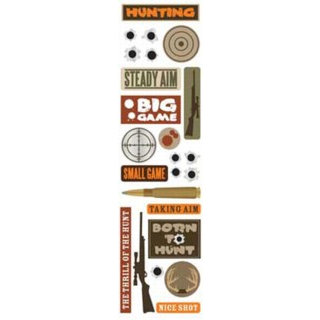 Karen Foster Design - Hunting Collection - Clear Stickers - Hunting