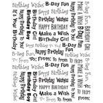 Karen Foster Design - Final Touch Collection - Clear Stickers - Happy Birthday